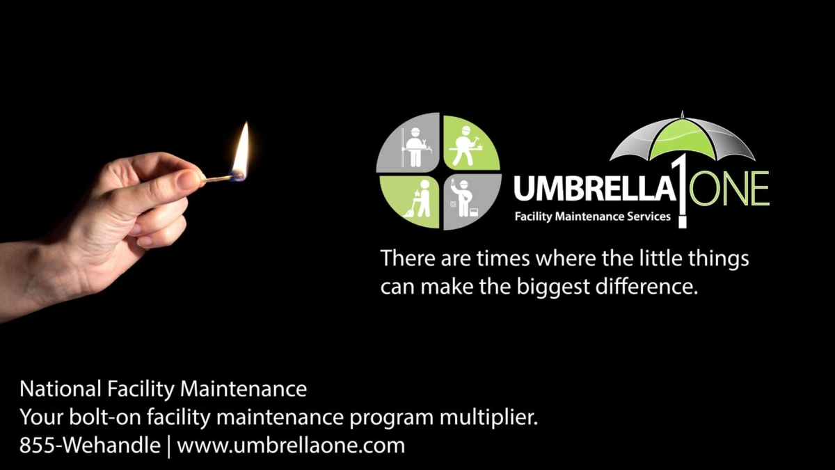 "UmberllaOne logo ""there are times where the little things can make the biggest difference"""