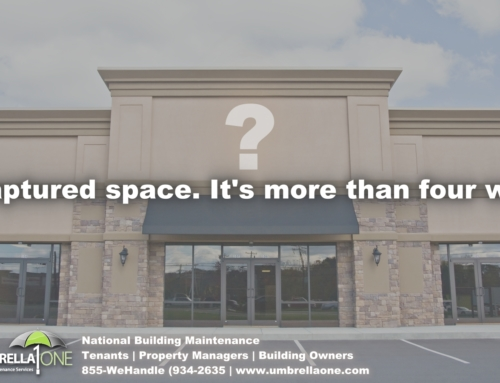 What's your plan for absorbing vacant commercial space and dark site management.
